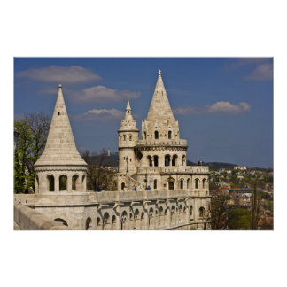 A view of Budapest from Castle Hill. Poster