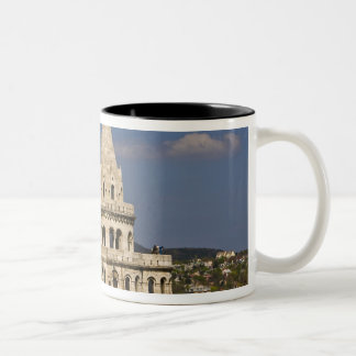 A view of Budapest from Castle Hill. Two-Tone Coffee Mug