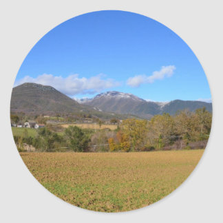 A View Of Calabria Classic Round Sticker