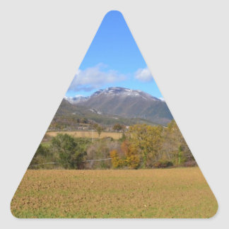 A View Of Calabria Triangle Sticker