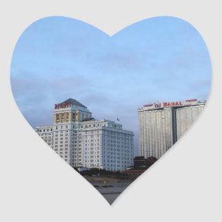 A View of Casinos in Atlantic City Heart Sticker