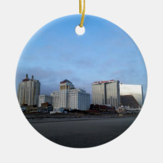 A View of Casinos in Atlantic City Christmas Ornament