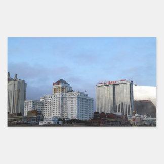A View of Casinos in Atlantic City Rectangular Sticker
