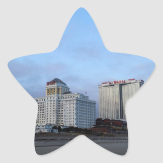 A View of Casinos in Atlantic City Star Sticker