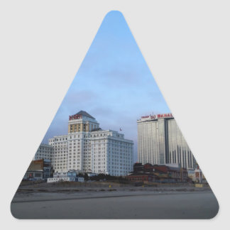 A View of Casinos in Atlantic City Triangle Sticker