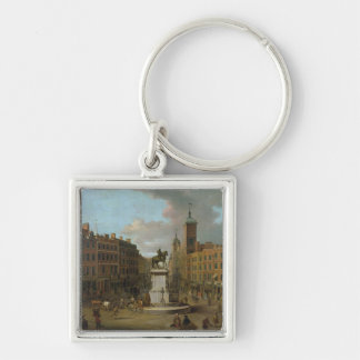 A View of Charing Cross and Northumberland Key Chain