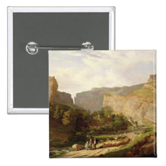A View of Cheddar Gorge (oil on canvas) Button
