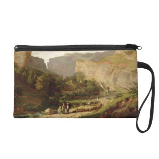 A View of Cheddar Gorge (oil on canvas) Wristlet Clutch