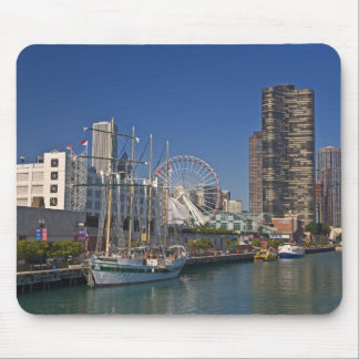 A view of Chicago s Navy Pier 2 Mousepads
