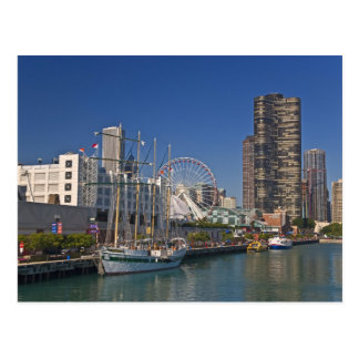 A view of Chicago s Navy Pier 2 Post Card