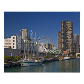 A view of Chicago s Navy Pier 2 Print