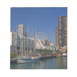 A view of Chicago's Navy Pier 2 Notepad