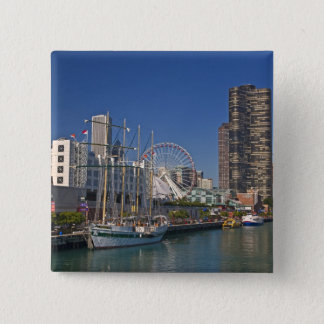 A view of Chicago's Navy Pier 2 Pinback Button