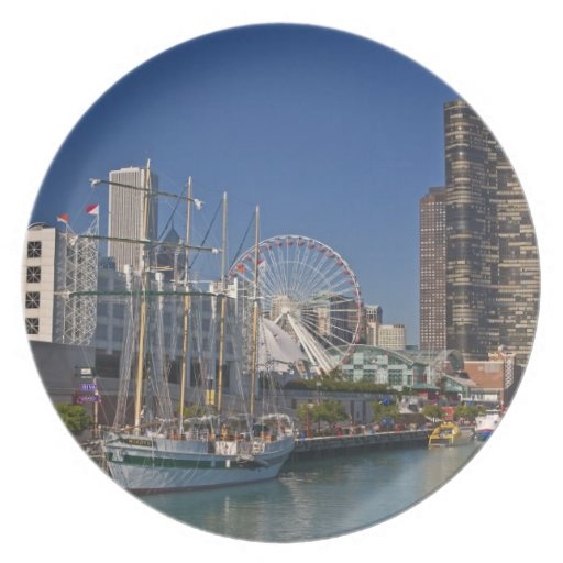 A view of Chicago's Navy Pier 2 Plate