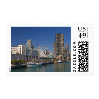 A view of Chicago's Navy Pier 2 Postage