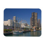 A view of Chicago's Navy Pier 2 Rectangular Photo Magnet