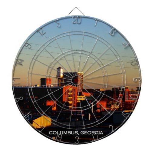 A view of Columbus, GA taken from Phenix City, AL Dartboard