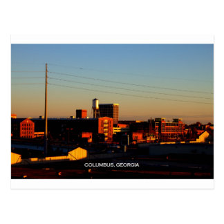 A view of Columbus, GA taken from Phenix City, AL Postcard