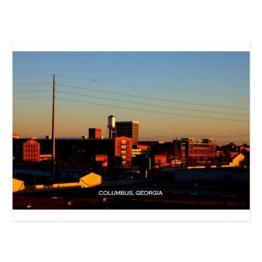 A view of Columbus, GA taken from Phenix City, AL Post Card