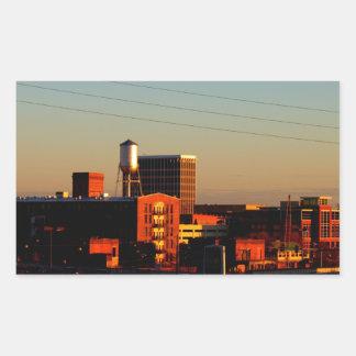 A view of Columbus, GA taken from Phenix City, AL Rectangular Sticker