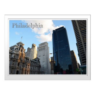 A view of Downtown Philadephia Postcard