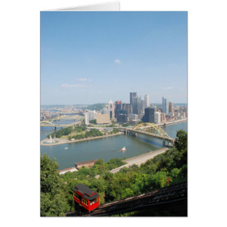 A View of Downtown Pittsburgh from Mt. Washington Card