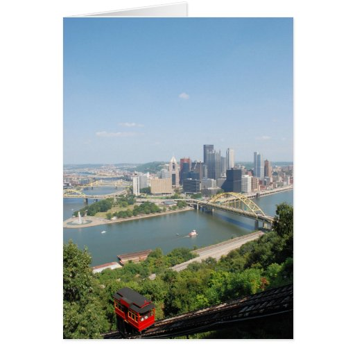 A View of Downtown Pittsburgh from Mt. Washington Greeting Card