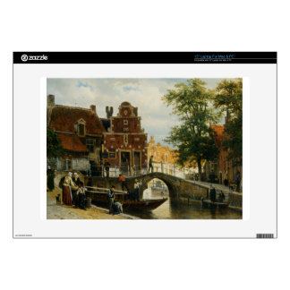 A View of Franeker with the Zakkendragershuisje Skins For Laptops