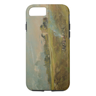 A View of Hampstead Heath, with figures round a bo iPhone 8/7 Case