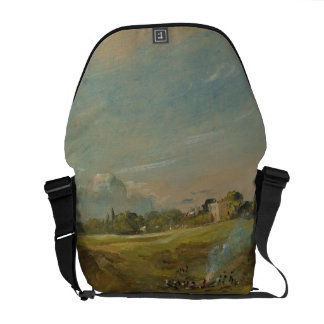 A View of Hampstead Heath, with figures round a bo Messenger Bag