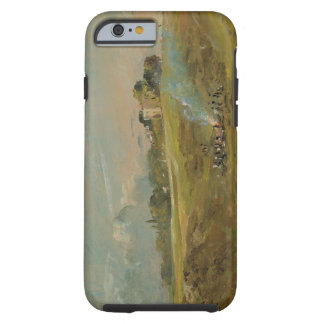 A View of Hampstead Heath, with figures round a bo Tough iPhone 6 Case