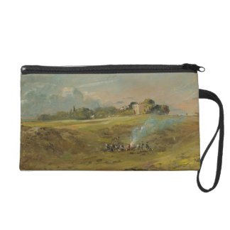 A View of Hampstead Heath, with figures round a bo Wristlet