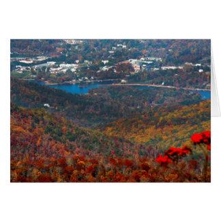 A view of Hiawassee, GA and Lake Chatuge Card