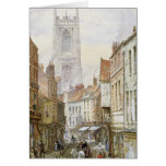 A View of Irongate, Derby Greeting Card