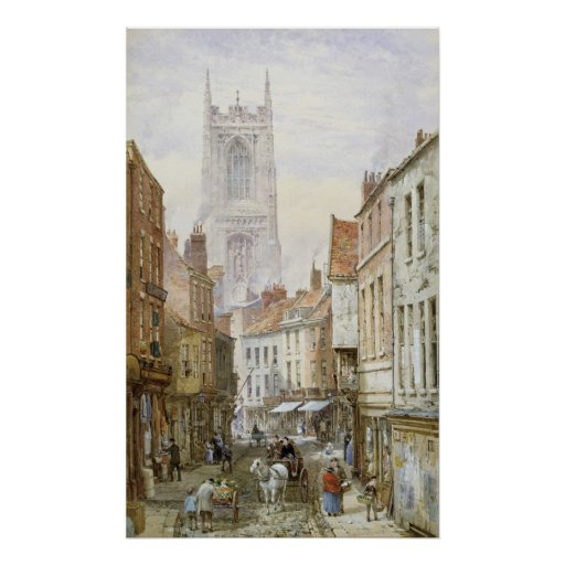 A View of Irongate, Derby Print