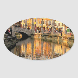 A View Of Italy Oval Sticker