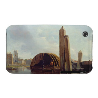 A View of Lambeth (oil on panel) iPhone 3 Case