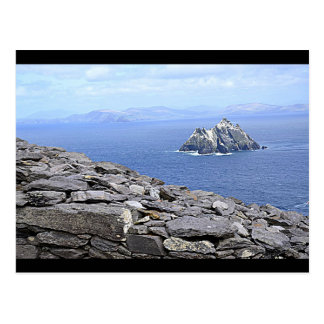 A View of Little Skellig from Skellig Michael Postcard