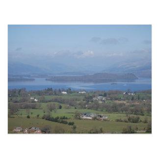 A view of Loch Lomond from the Dumpling Postcard