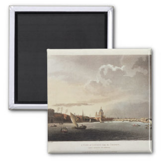 A View of London from the Thames, 1809 Magnet