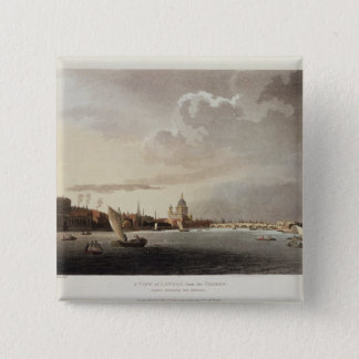A View of London from the Thames, 1809 Pinback Button