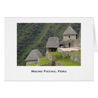 A view of Machu Picchu Card