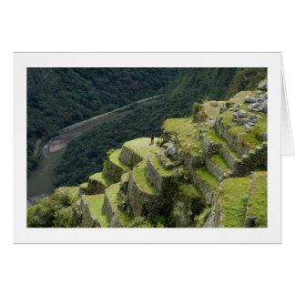 A View of Machu Picchu Peru Card