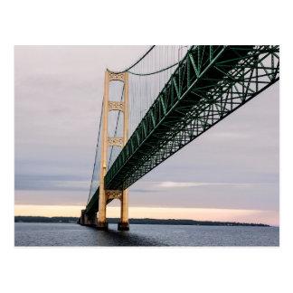 A view of Mackinac Bridge from Lake Michigan 2 Postcard