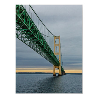 A view of Mackinac Bridge from Lake Michigan 2 Poster