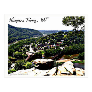 A View of Modern Day Harpers Ferry Postcard