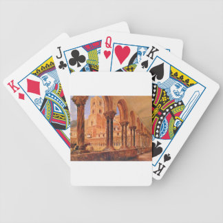 A View Of Monreale, Above Palermo Rudolf von Alt Bicycle Playing Cards