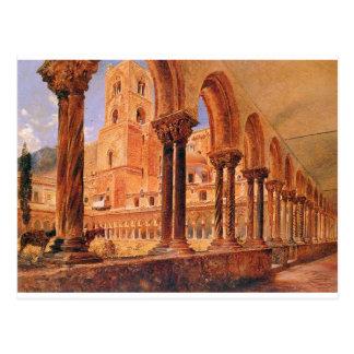 A View Of Monreale, Above Palermo Rudolf von Alt Postcard
