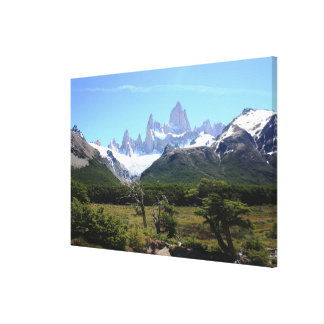 A View Of Mount Fitz Roy Canvas Print