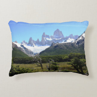 A View Of Mount Fitz Roy Decorative Pillow